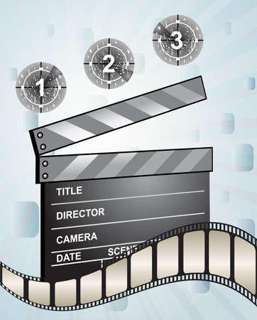 sequence: Movie clapper board