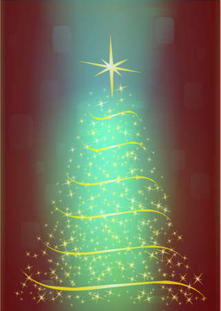 Abstract christmass tree, vector illustration Stock Vector - 10798783