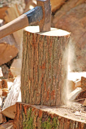 gobble: Firewood with axe