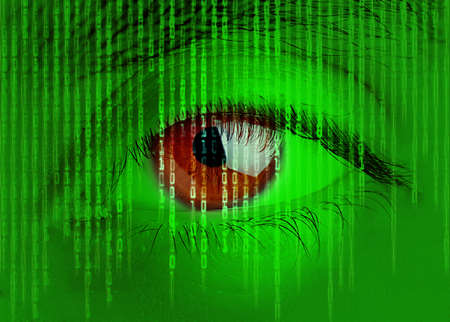 big brother spy: Digital eye Stock Photo
