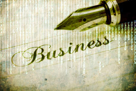 Business background with pen Stock Photo - 11010172