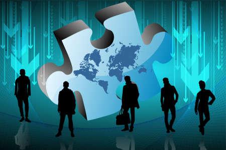 banco mundial: Empresa de dise�o. Vectores