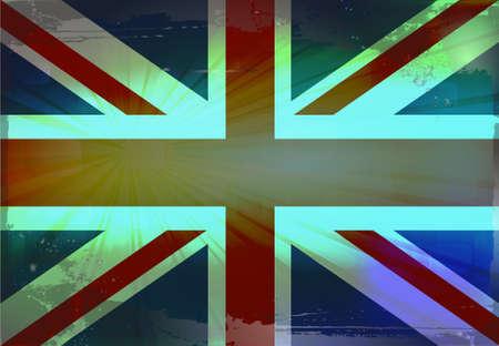 grunge union jack: England flag.