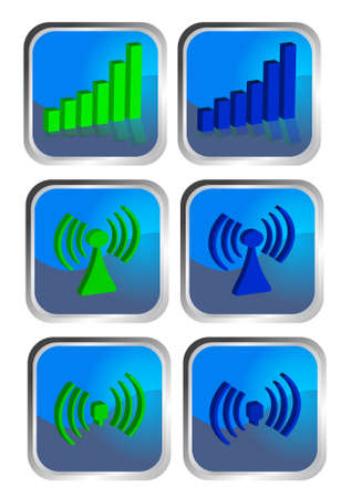 access point: Wirelss icon set.