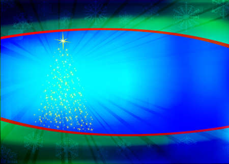 Abstract vector background with yellow abstract christmas tree Stock Vector - 11234763