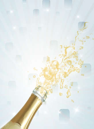 Champagne explosion photo