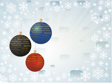 Christmas background with balls, vector illustration Vector