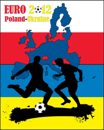sihouette: Soccer design for Euro Cup 2012.