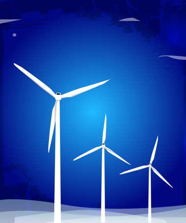 Windmill turbines.