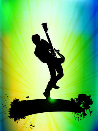 guitarristas: Guitarrista ilustraci�n Vectores