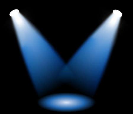 spotlights: Las luces del escenario, ilustraci�n vectorial