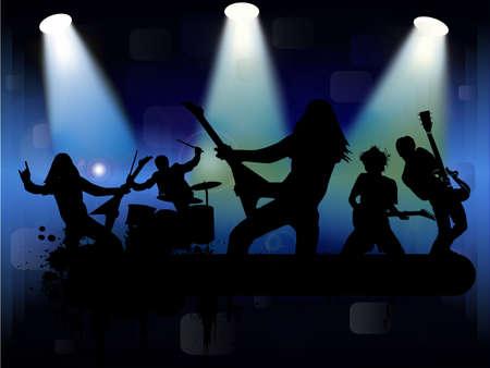 Rock band, vector illustration  イラスト・ベクター素材