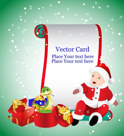 Vector Christmas Card Vector