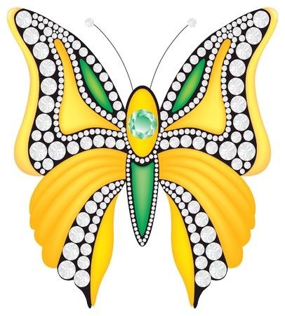 Vector brooch with diamonds Vector