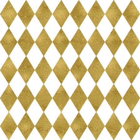 Gold and glitter seamless harlequin pattern Stock Photo