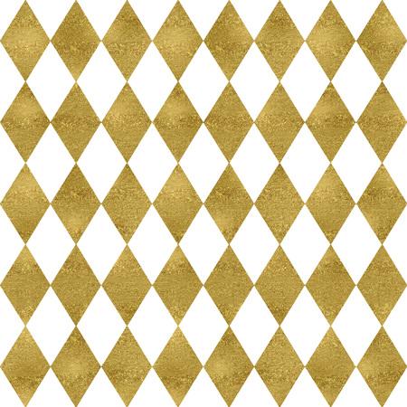 Gold and glitter seamless harlequin pattern Stok Fotoğraf - 97486667