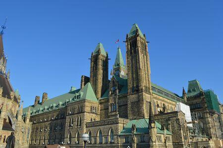 ottawa: Capital building in Ottawa Stock Photo