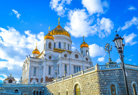 saviour: Cathedral of Christ the Saviour. Russia,Moscow Kremlin Red Square Stock Photo