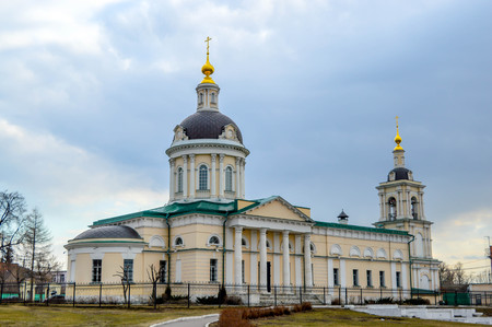 gold cross: Russian church with gold cross Orthodox
