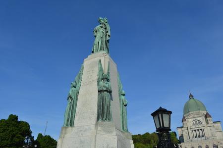 oratorio: St Joseph Oratorio a Montreal Statua Vista