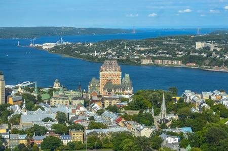 quebec: Quebec observatory city view Editorial