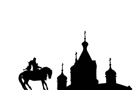 Dmitry Donskoy and the Russian Orthodox Church in Black  White