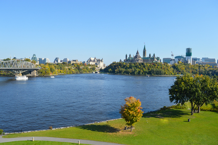 View of Parliament Buildings, Ottawa, Ontario, Canada