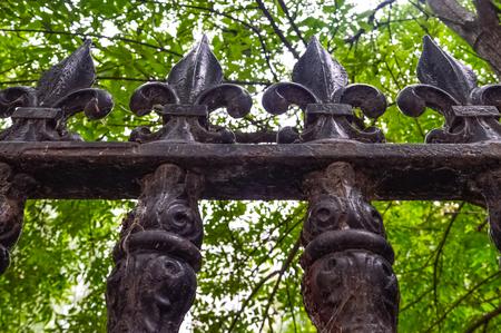 puertas de hierro: Elemento hierro valla de cerca en Montreal, Canad�.