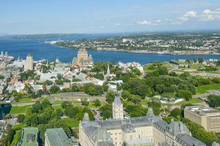 quebec: Frontenac castle in Quebec Editorial