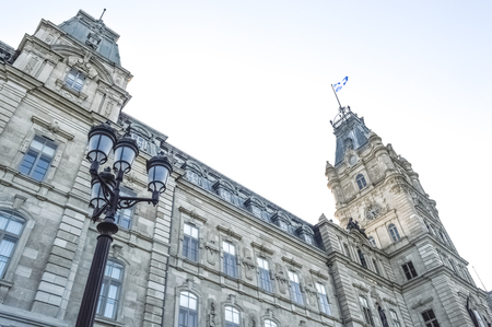 Quebec parliament in Quebec city 版權商用圖片