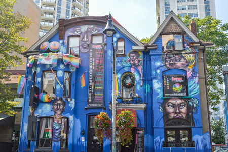 wellesley: Toronto, Canada - 26 August, 2015: Torontos 1 drag bar at Church  Wellesley Village in downtown Toronto. Editorial