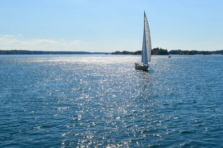 kingston: Yachts at 1000 Islands and Kingston in Ontario, Canada Stock Photo