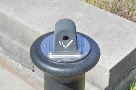 ash: garbage trash can cigarette ash tray Stock Photo