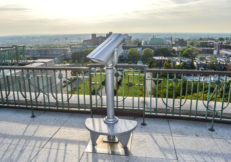 oratoria: visor binocular Oratorio San José Montreal Canadá Foto de archivo