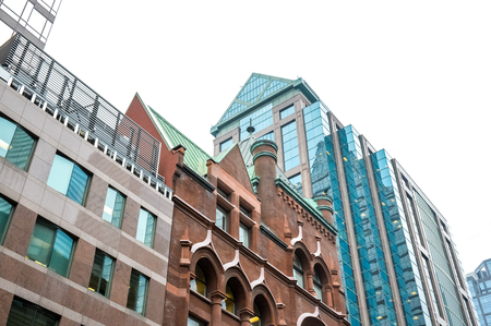 Toronto, Canada - November 16, 2016: Old and new buildings in Toronto downtown