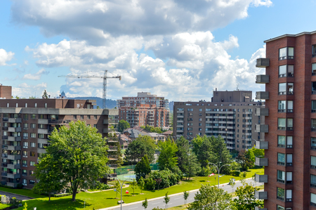 oratoria: The construction of expensive Condo buildings in Montreal (Cote Saint-Luc), Canada