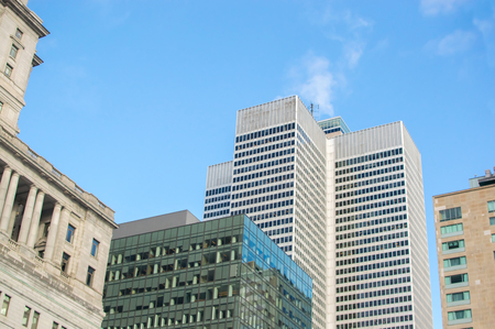 Skyscrapers in Montreal downtown, Canada Stock Photo