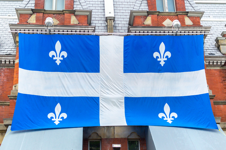 The large flag of Quebec in Quebec city, Canada