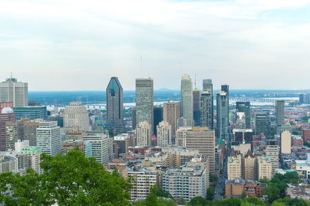 Montreal Skyline in summer, Canada