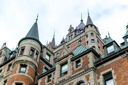 Frontenac castle  in Quebec city, Canada Redakční