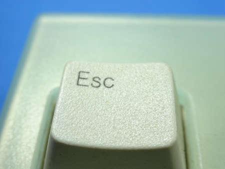 escape key: An escape key of computer keyboard