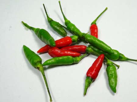 capsicum plant: chillii close up on white background