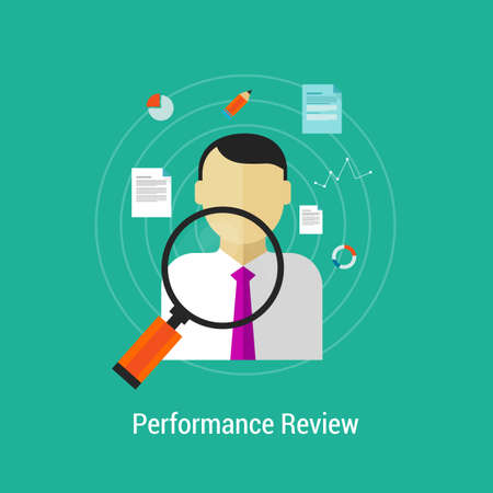 to review: Review performance human resource Illustration