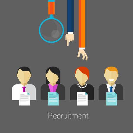 recruter: employ� de recrutement des ressources humaines Illustration
