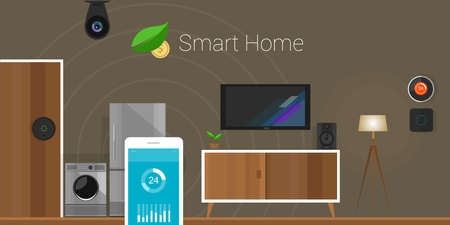 Smart Home connected Internet of Things