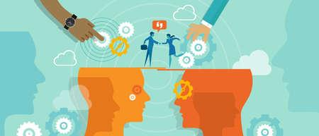 hombres ejecutivos: comunicaci�n concepto fusi�n de negocios Vectores