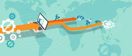 expanding: externalizar la expansi�n del negocio Vectores
