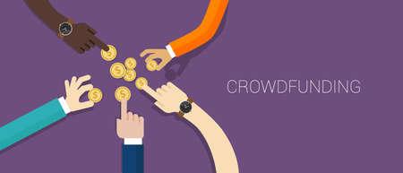 action fund: crowdfunding money Illustration