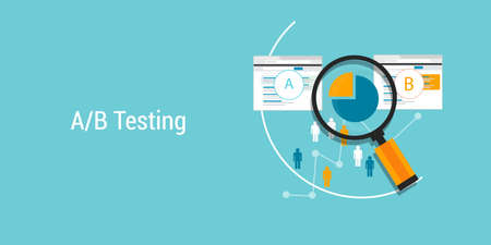 AB Testing web design and development testing metodology Stok Fotoğraf - 38716575