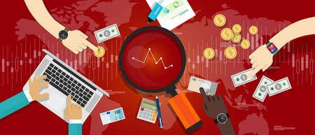 bearish business: market down stock bearish illustration vector recesion economy